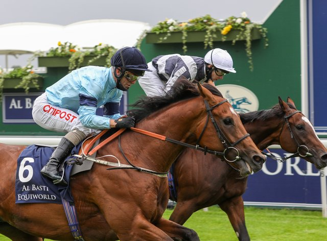 Thunderous (left) and Highest Ground in the Dante Stakes