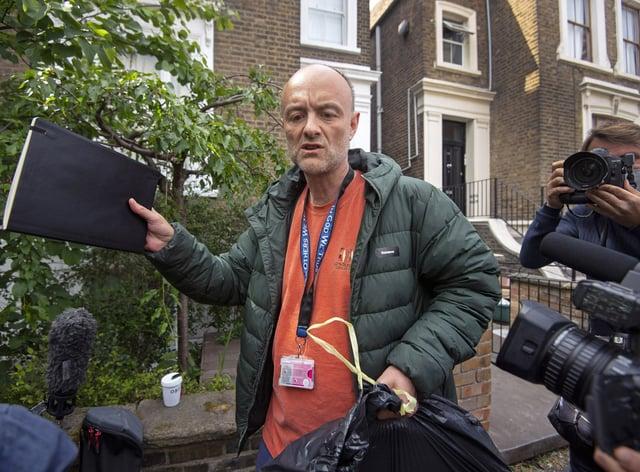 Boris Johnson's former senior aide Dominic Cummings has hit back at leak allegations (Victoria Jones/PA)