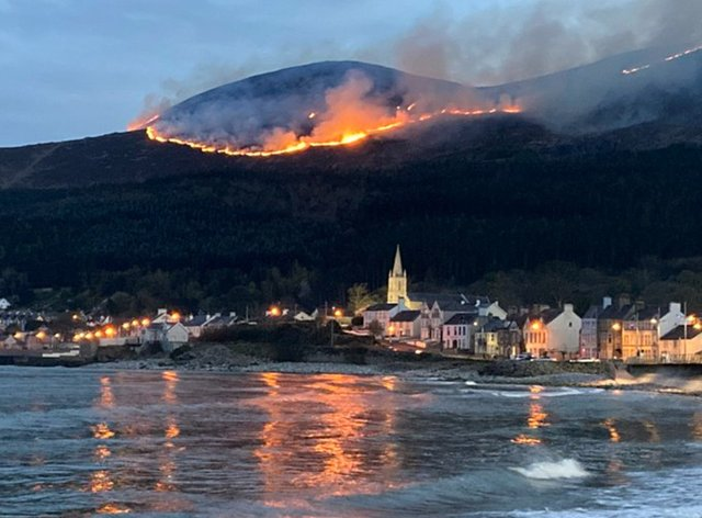 Fire in the Mourne Mountains
