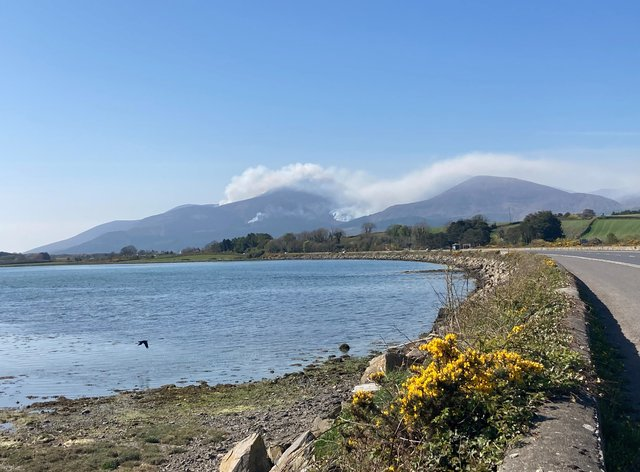 Mourne Mountains fire