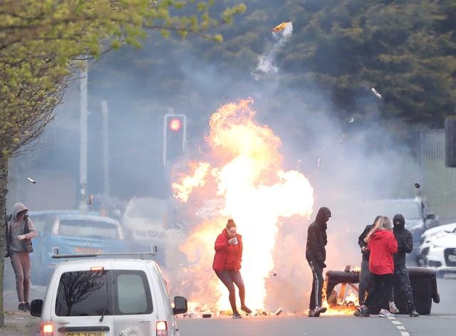 Unrest in Belfast's Shankill Road