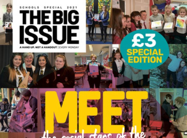 The front cover of the Big Issue schools special