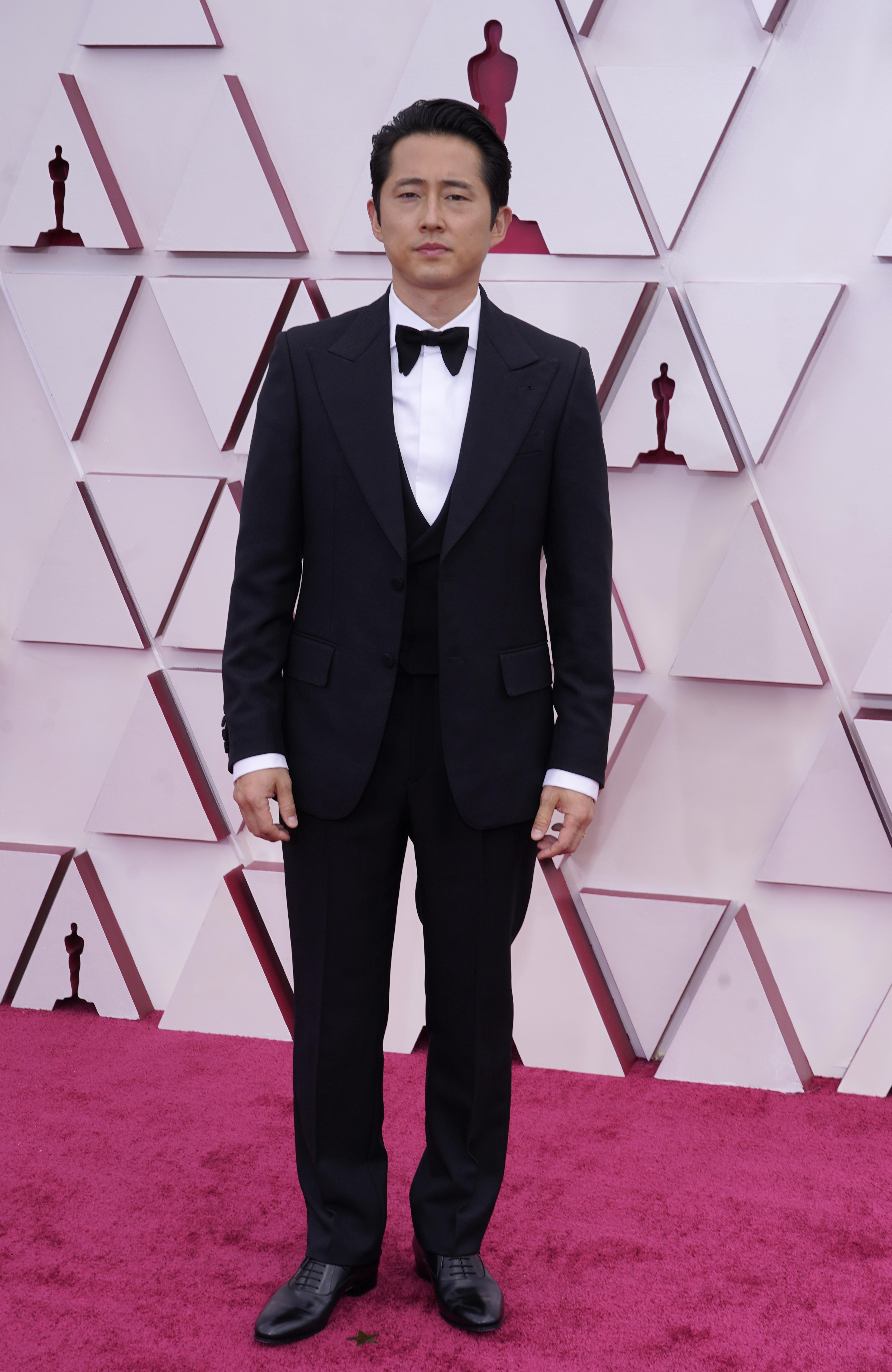 Steven Yeun at the 93rd Academy Awards