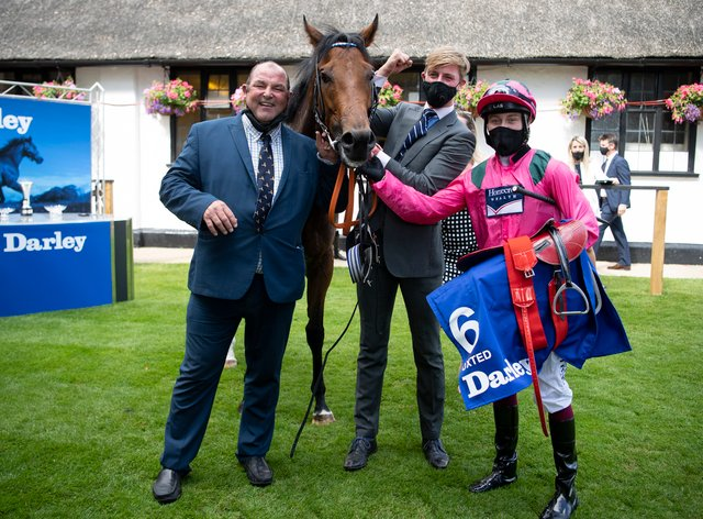 Trainer Roger Teal (left) will make a late call whether Oxted goes to York before heading to Royal Ascot