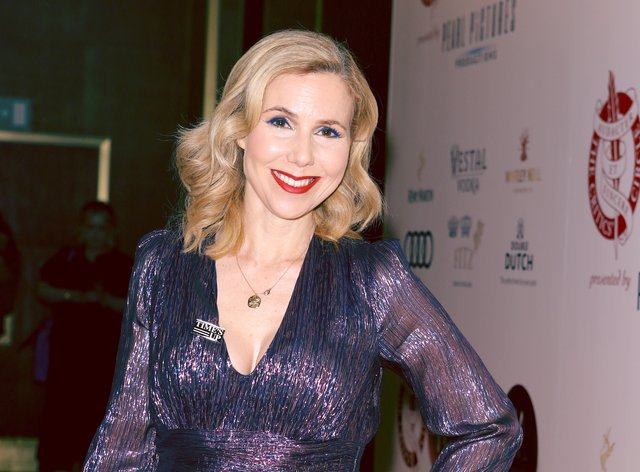 Sally Phillips on the red carpet in January 2020
