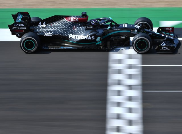 Lewis Hamilton in action for Mercedes