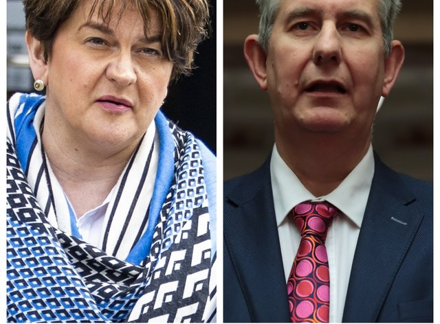 Arlene Foster and Edwin Poots