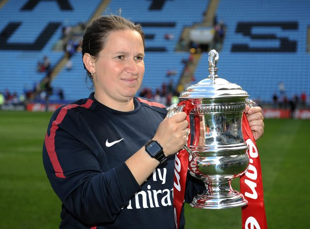 Laura Harvey won three titles and the FA Cup with Arsenal