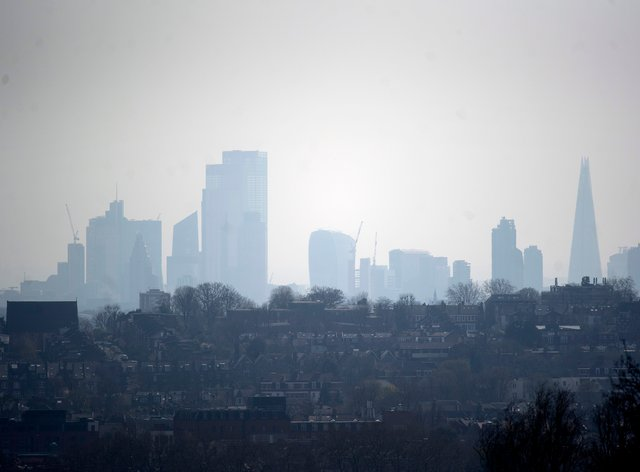 A hazy view of London