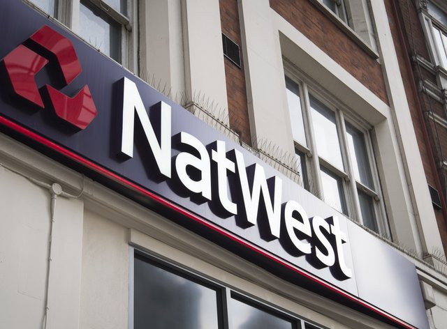 A NatWest bank sign