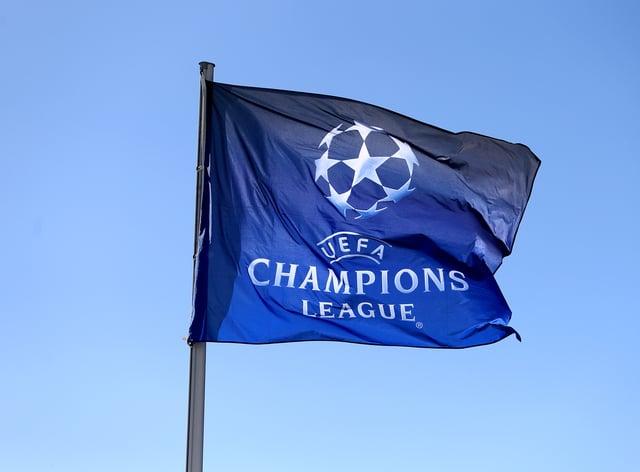 The UEFA Champions League flag