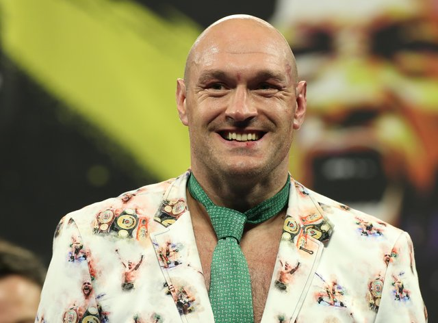 Tyson Fury, pictured, took aim at Anthony Joshua (Bradley Collyer/PA)