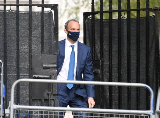 Dominic Raab has been accused of attempting to sneak out the extent of cuts to the aid budget by MPs