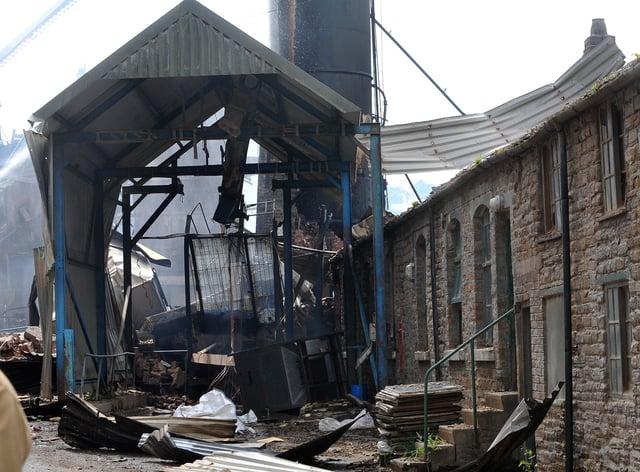 Bosley Wood Flour Mill explosion scene
