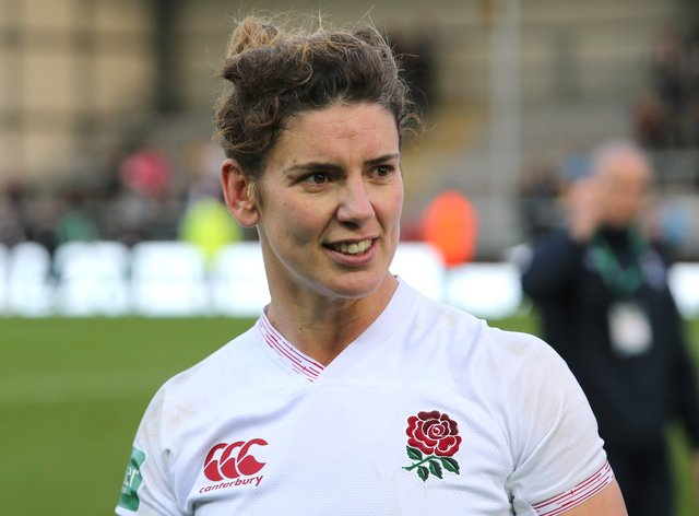 England women's rugby captain Sarah Hunter has backed the social media boycott