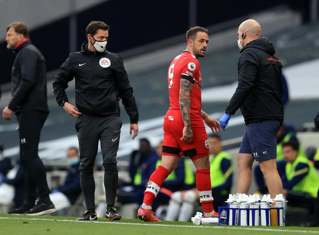 Southampton striker Danny Ings suffered injury in last week's loss at Tottenham