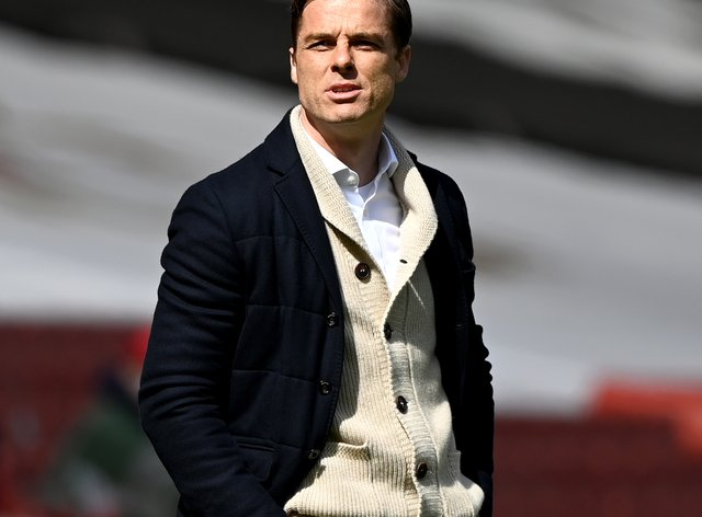 Scott Parker on the touchline