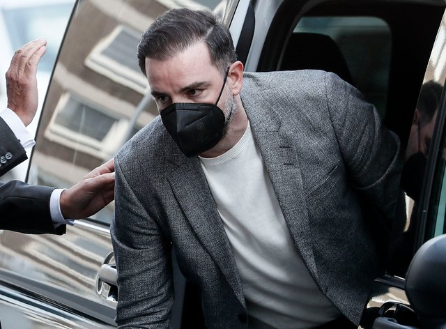 Christoph Metzelder arriving at court