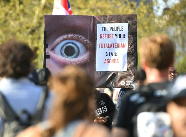 Anti-lockdown protesters in Hyde Park