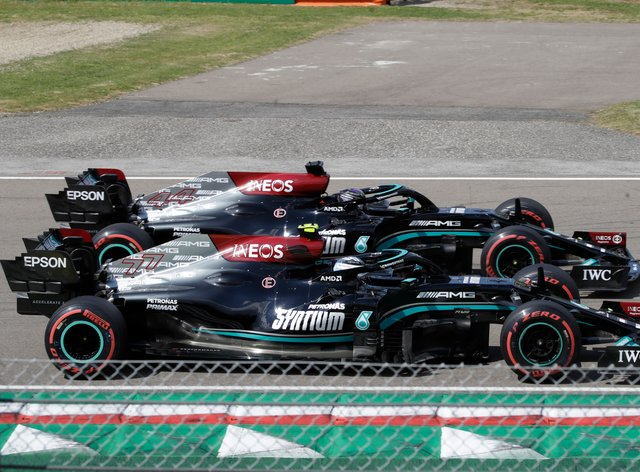 Valtteri Bottas finished fastest in the opening running in Portugal
