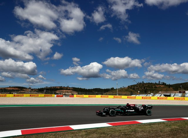 Lewis Hamilton finished fastest in second practice