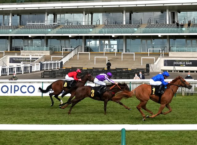 Creative Force comes home in front at Newmarket