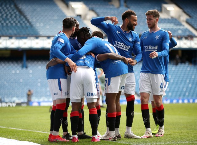 Rangers eased to a 4-1 victory over Old Firm rivals Celtic on Sunday