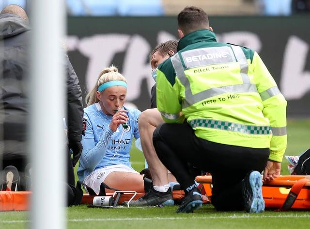 Chloe Kelly receives treatment