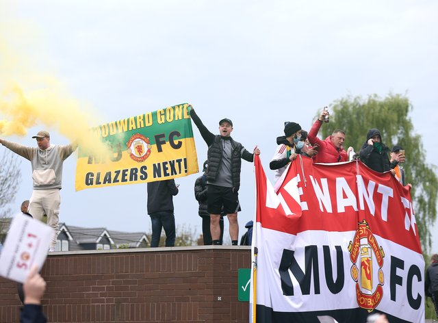 Manchester United supporter protests forced the postponement of the Premier League match at home to Liverpool