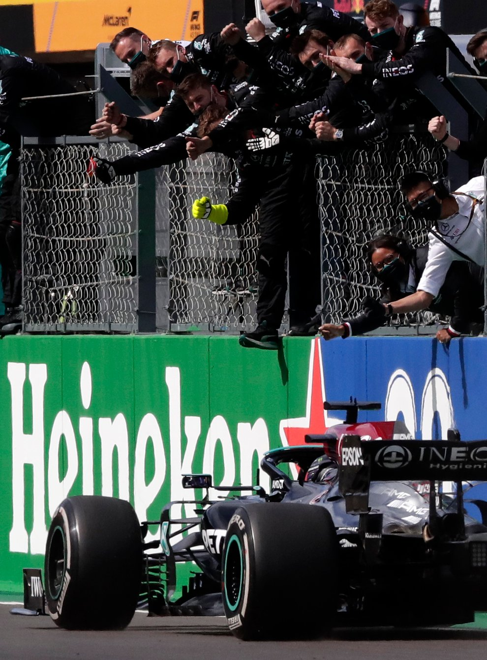 Lewis Hamilton raced to victory in Portugal on Sunday