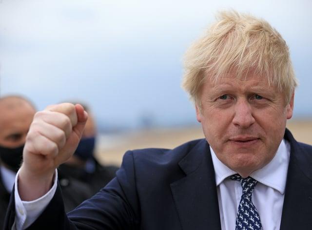 Prime Minister Boris Johnson in Hartlepool