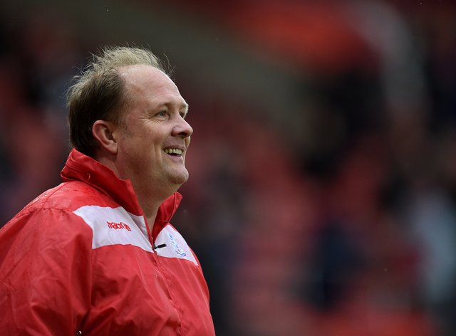 Andy Woodman on the touchline