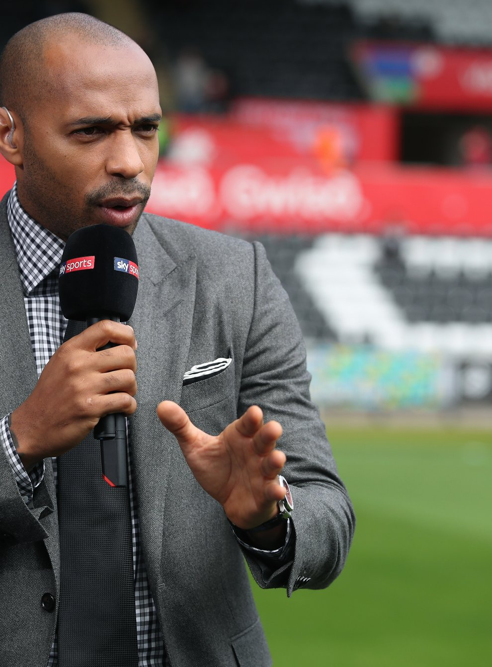Thierry Henry taking to Sky Sports