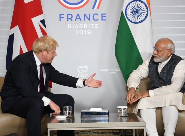 Boris Johnson and Narendra Modi