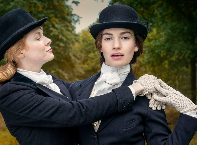 Emily Beecham as Fanny, Lily James as Linda