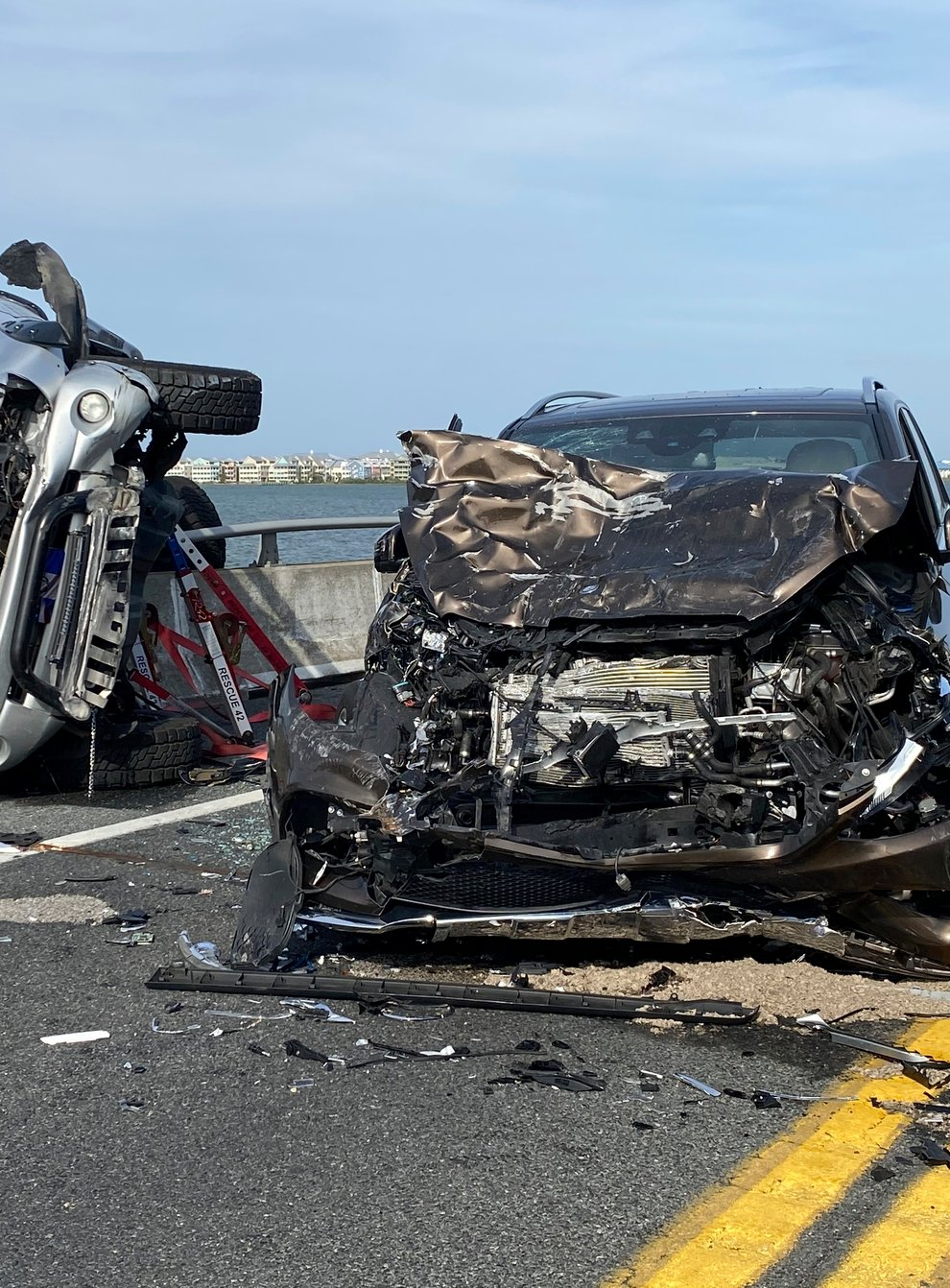 The scene of the car accident in Ocean City