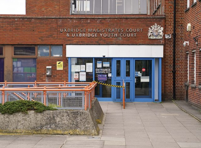 Uxbridge Magistrates' Court, west London (Steve Parsons/PA)