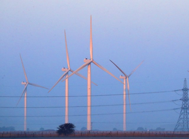 Wind turbines generated a new record on Bank Holiday Monday