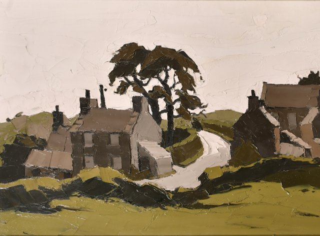 The landscape of Capel Soar in Gwynedd by Sir Kyffin Williams is expected to fetch between £20,000 and £30,000 when it is sold later this month (Parker Fine Art Auctions/PA).