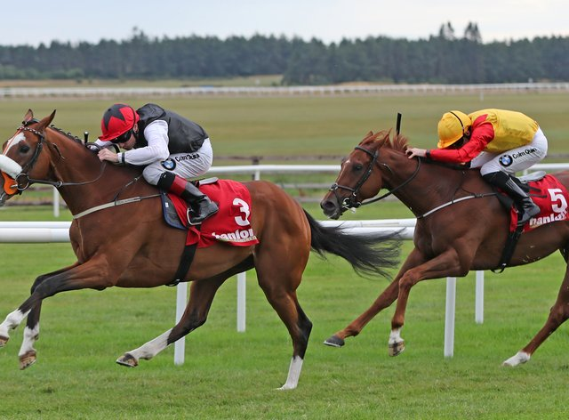Falcon Eight (left) contests Friday's Chester Cup