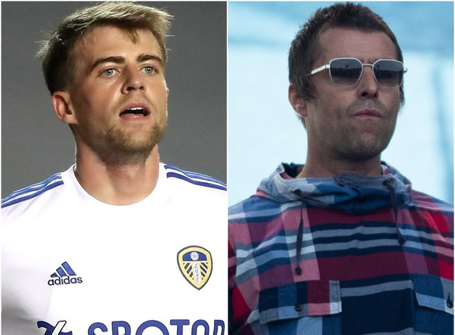 Patrick Bamford and Liam Gallagher