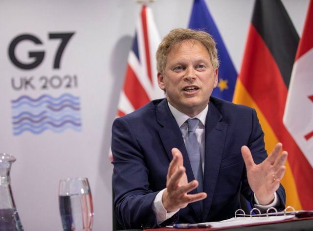Transport Secretary Grant Shapps has hosted G7 talks aimed at creating a 'robust, accessible and coordinated approach' to restarting international travel (Department for Transport/PA)