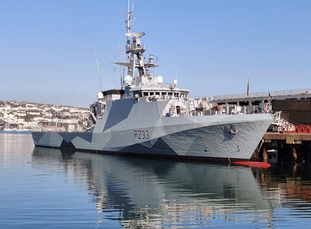 Patrol ship HMS Tamar has been deployed