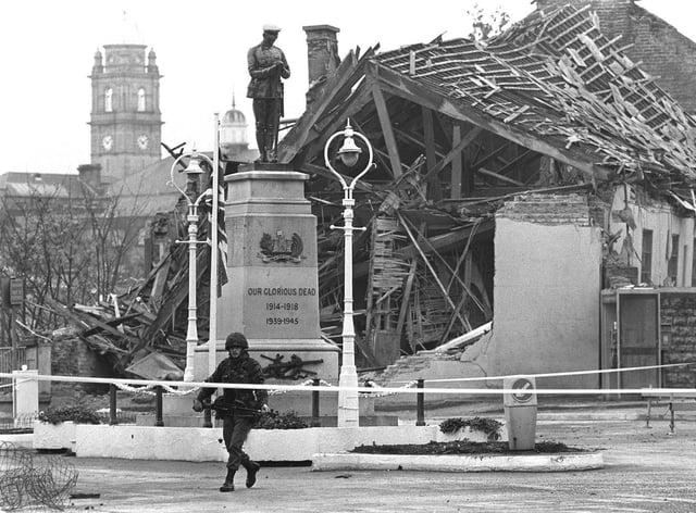 The scene after the Enniskillen bombing in November 1987