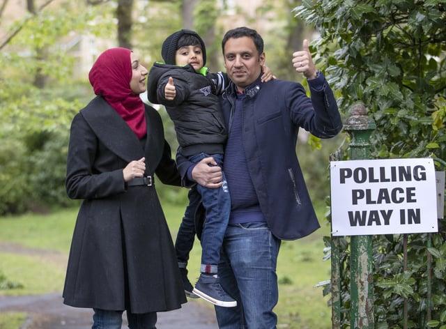 Anas Sarwar voting