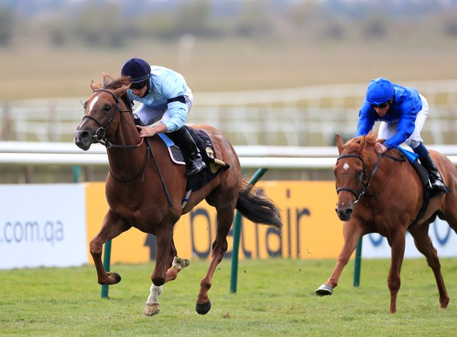 Parachute (left) was an authoritative winner of the Betfair Weighed In Podcast Handicap at Newmarket