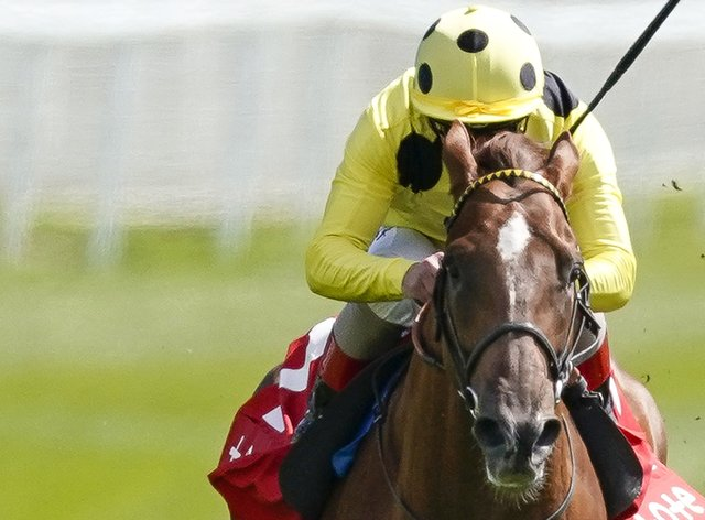 El Drama winning the Dee Stakes at Chester