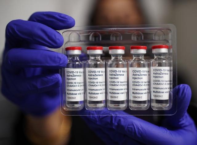 Vials of the Oxford/AstraZeneca Covid-19 vaccine