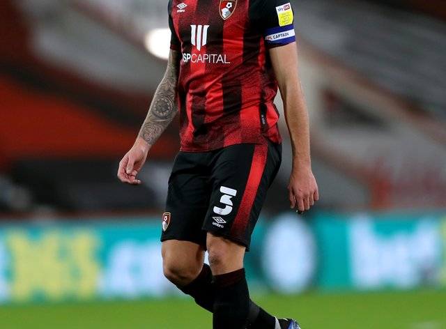 Bournemouth captain Steve Cook in action
