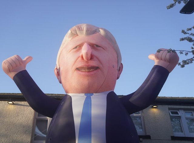 The 30ft inflatable in Hartlepool